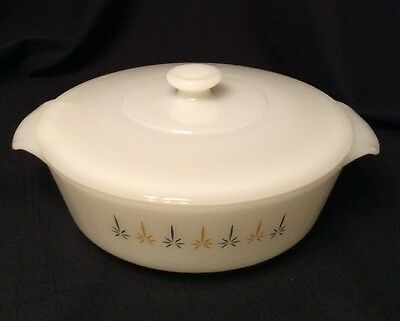 Vintage Anchor Hocking Fire King CandleGlow 1 1/2 Qt Casserole Baking Dish W/Lid