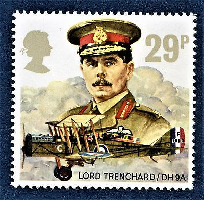 GB Lord Trenchard and De Havilland D.H.9A RAF Royal Air Force on a stamp U/M