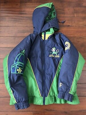 Vintage 1990's Pro-Player Notre Dame Fighting Irish Heavy Winter Jacket, L, EUC