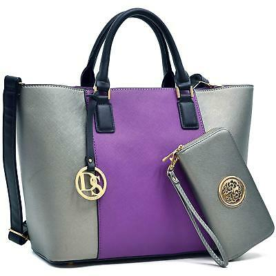 ac97545df192 MMK collection Women Fashion Matching Satchel  Tote handbags with walle(6417 )t~