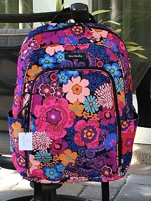 4c9ee36b6d VERA BRADLEY LAPTOP BACKPACK SCHOOL BOOK BAG FLOWERS  118 in FLORAL FIESTA