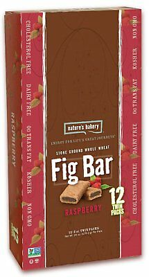 Nature's Bakery Whole Wheat Fig Bar, Raspberry, Vegan + Non-GMO, 12 Count Box