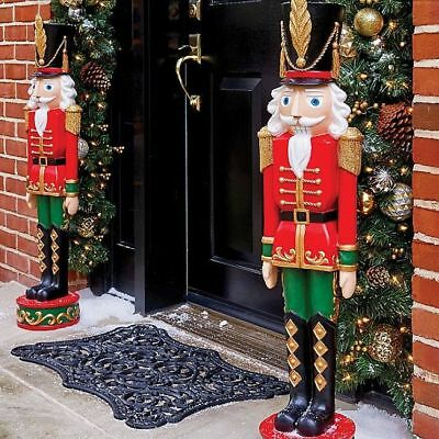 "Toy Soldier Christmas Entryway 36"" Large Outdoor Yard Nutcracker Statue Figure"
