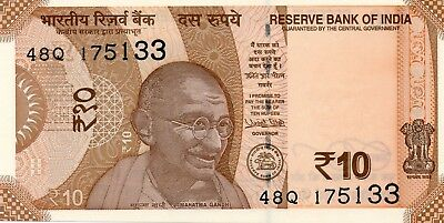 INDIA 10 Rupees 2018 P NEW Letter R UNC Banknote