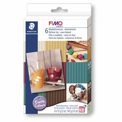 New Set : Fimo Soft Modelling Clay, Earth Colours