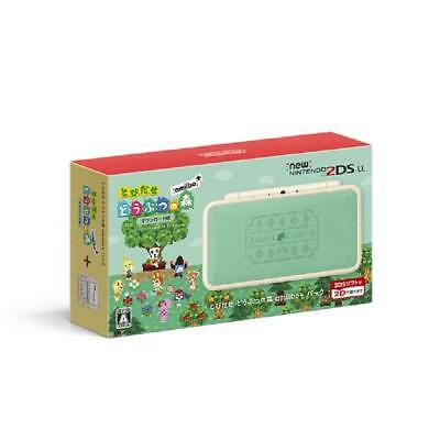 Nintendo 2DS LL Animal Crossing Leaf Japanese ver. Amiibo + Pack From Japan F/S