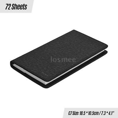 Front Classic Notebook with PU Leather Pen Loop Bookmark Inside Pocket Hard A4L8