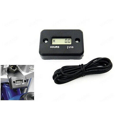 LCD Display Hour Meter Motorcycle ATV Snowmobile Marine Boat Yama Gauge Timer CA