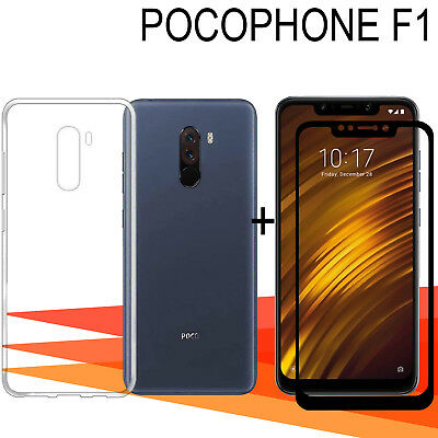 Xiaomi PocoPhone F1 Pack Protector glass glass tempered full 3D +cover