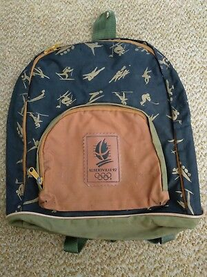 Vintage Olympic Bagpack Alberville 92' Winter Games Collectable Mustard BLK Oliv