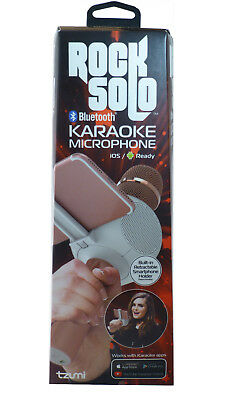 New Rock Solo Karaoke Microphone Mixer and Bluetooth Speaker (Rose Gold)