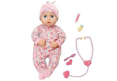 Zapf Creation 701294 - Baby Annabell Milly Feels Better Puppe, bunt