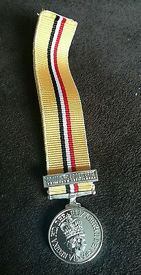 Reduced! Miniature Iraq medal (Op Telic) loose with 2003 bar