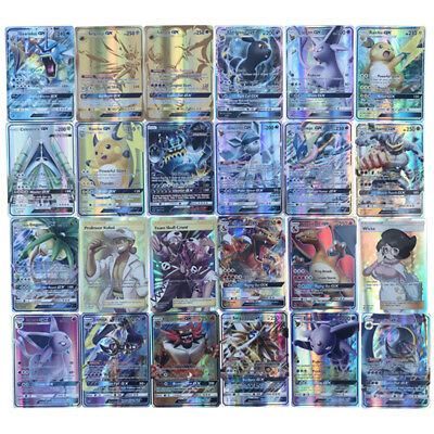 Pokemon 50 PCS TCG Card Lot Rare 25 MEGA + 22 GX + 3 Trainer Cards Gift US Stock