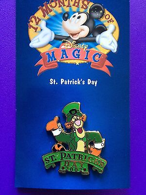 ST. PATRICK'S DAY (TIGGER)  - DISNEY STORE 12 Months of Magic Series Pin