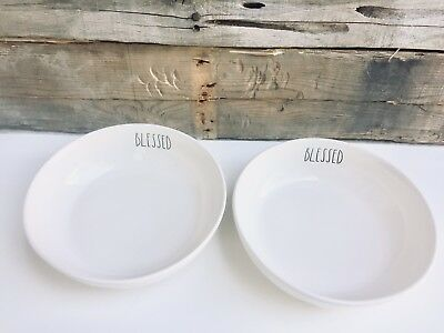 Rae Dunn BLESSED Pasta Bowls Set Of Two Thanksgiving New HTF