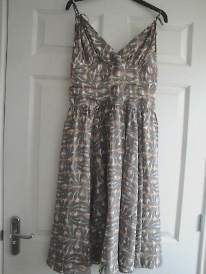 Dress Ted Baker Size 10 Ted Size 2 Summer Lined Silk Gorgeous Ladies Girls