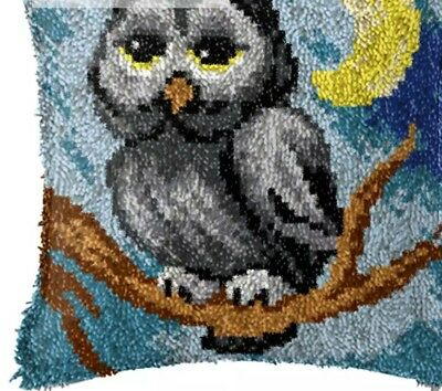 Owl latch hook kit measure 40cm x 40 cm