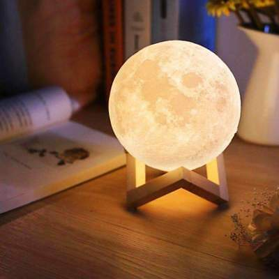 Moon Lamp AGM 3D Mondlampe 13/15cm Nachtlicht Desk Lamp USB Touch Sensor
