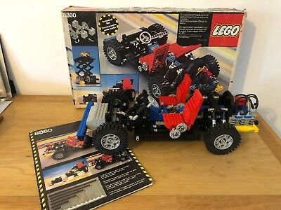 Vintage Lego 8860 Car Chassis 1980 Technic Complete With Box And