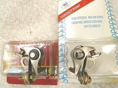 New K&S set RH ignition contact breaker points Honda CB350F CB400F right only