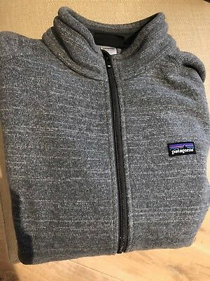 Patagonia Mens Better Sweater Full Zip Fleece Jacket Grey Size