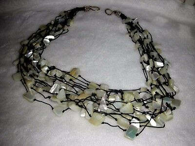 Vintage Outstanding Mother of Pearl 16 Strand Necklace