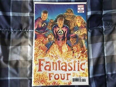 FANTASTIC FOUR 1 2018 ALEX ROSS 1:50 INCENTIVE VARIANT #2 Two Books