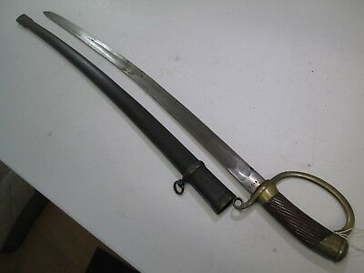 Wwi Or Wwii Russian Persian Cossack Sword With Scabbard Marked #z227