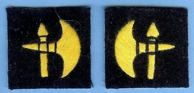 British Army Sign Patch Pair--78th Division, Italian Theatre