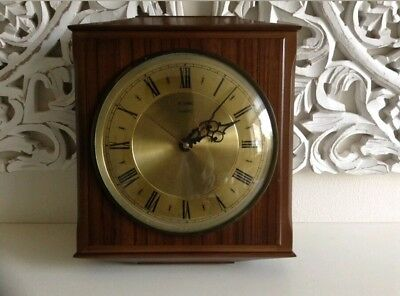 Vintage Retro Iconic Metamec Wood 1960's-1970's Wall Clock Collectable