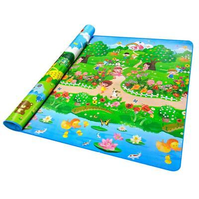 2*1.8M Double-sided Baby Kids Play Mat Floor Rug Picnic Blanket Crawling Mat