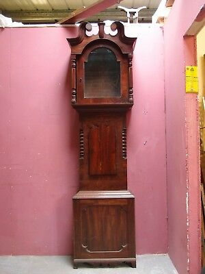 Antique Mahogany Case For Victorian Longcase Clock No Movement