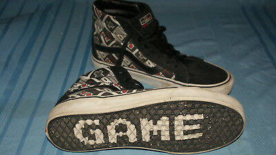 233b38550e used VANS Nintendo Controller Skate Shoes GAME OVER Mens 9.5 Womens 11 High  Top