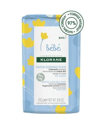 Klorane Bebe Ultra-Rich Soap Rich in soothing and softening Calendula 250gr
