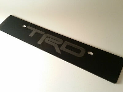 StreetRays Black Front License Plate Delete fits Toyota Full Laser Engraved Logo