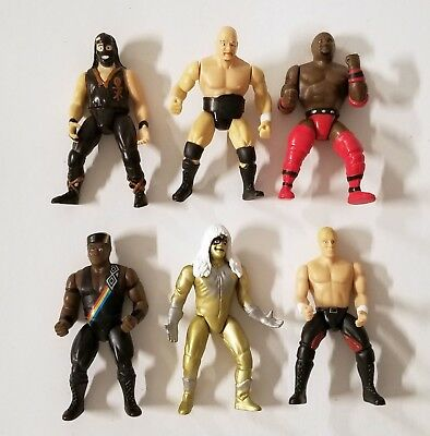 Jakks Wwf Raw Is War Set Of 6 Figures 3 Stone Cold Mankind Faarooq Goldust 8 96 Picclick