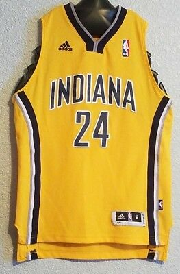 new concept a2bab 3264c NBA - VTG Rare Gold #24 Adidas Indiana Pacers Jersey Paul George - Youth  Boys M