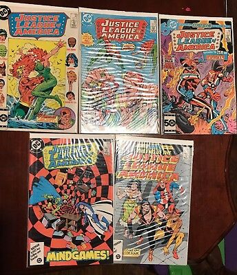 Justice League Of America Lot 1985 - 1987 #242, 243, 244, 257, 258 DC Comics