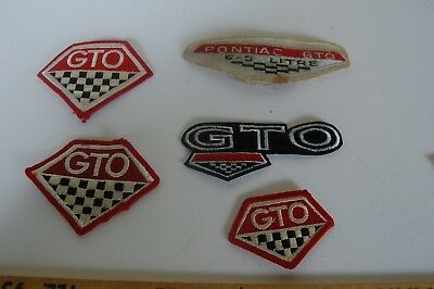 Lot of 5 vintage Pontiac GTO patches