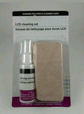 Screen Cleaning Kit Solution Cloth Set TV LCD Mobile Phone Laptops Camera iPad
