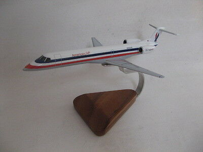 Embraer EMB-145 ERJ-145 American Eagle Airlines Airplane Desktop Wood Model