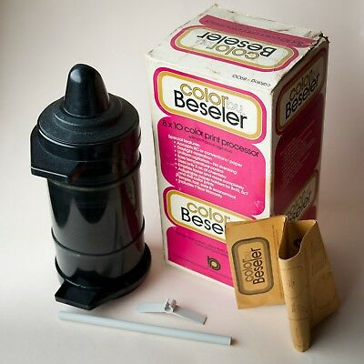 Color By Beseler 8x10 Processing Drum w/ Box, Instructions, Separator, Holder
