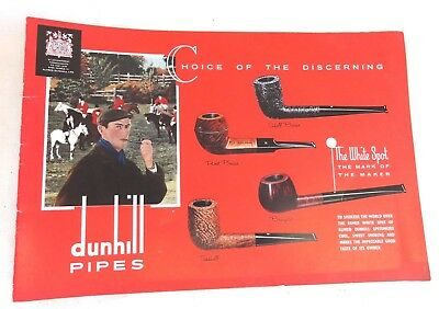 Vtg Estate Pipe Dunhill 1962 Catalog Choice of The Discerning Alfred Dunhill