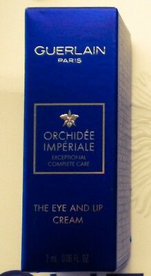 ❤️ GUERLAIN Orchidee Imperiale The Eye And Lip Cream Creme Probe Augencreme 2 ml