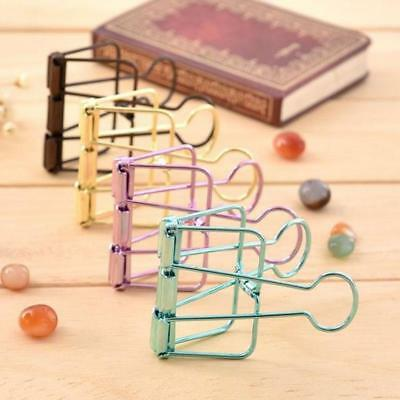 New Binder Clip Metal Classic School Office Stationery Paper Documents Cl.US