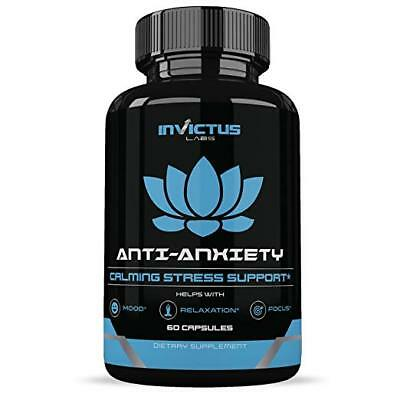 Anxiety Relief Reduce Stress 60 Veg Caps 30 day by Invictus Labs