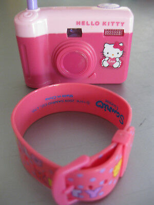 Hello Kitty Kamera und Hello Kitty Armband 8x6x3cm u. L 22 cm Pink/Rosa