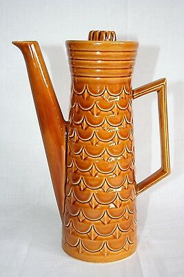 Vintage 1960s Retro Eastgate Pottery Coffee Pot Withernsea