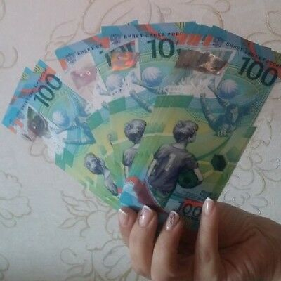 100 Roubles 2018 Fifa World Cup In Russia 2018 Press Unc New!!!